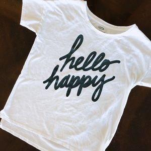 Hello Happy Old Navy T-shirt